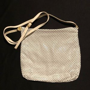 Whiting & Davis Ivory-Colored Mesh Purse